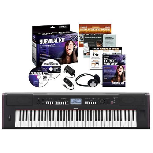 Yamaha NPV80 76-Key Piaggero Portable Digital Pianowith Yamaha C2 Survival Kit thumbnail