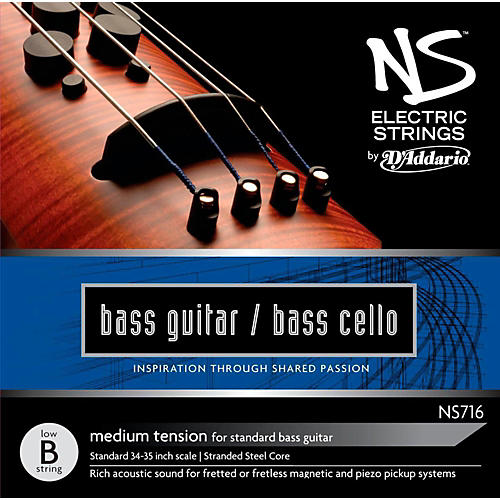 D'Addario NS Electric Bass Cello / Electric Bass Low B String thumbnail