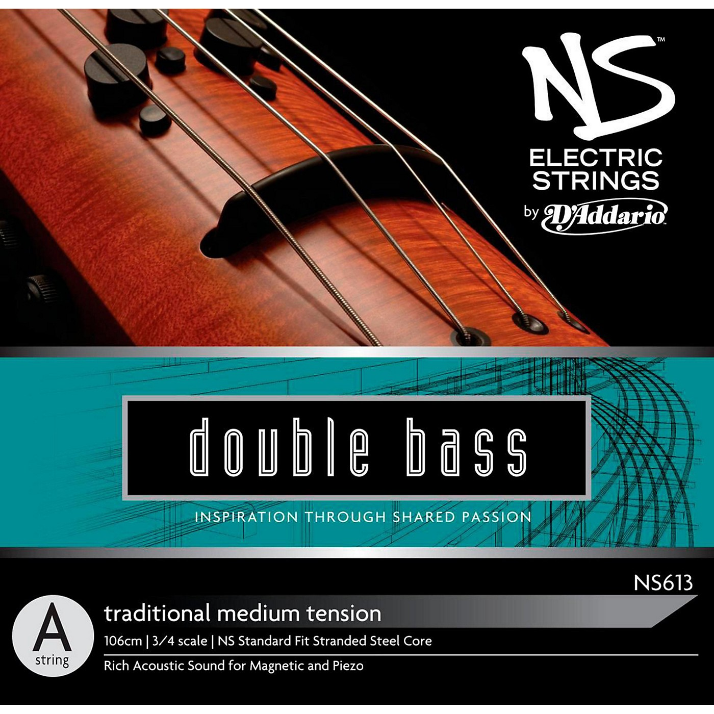 D'Addario NS Electric Traditional Bass A String thumbnail