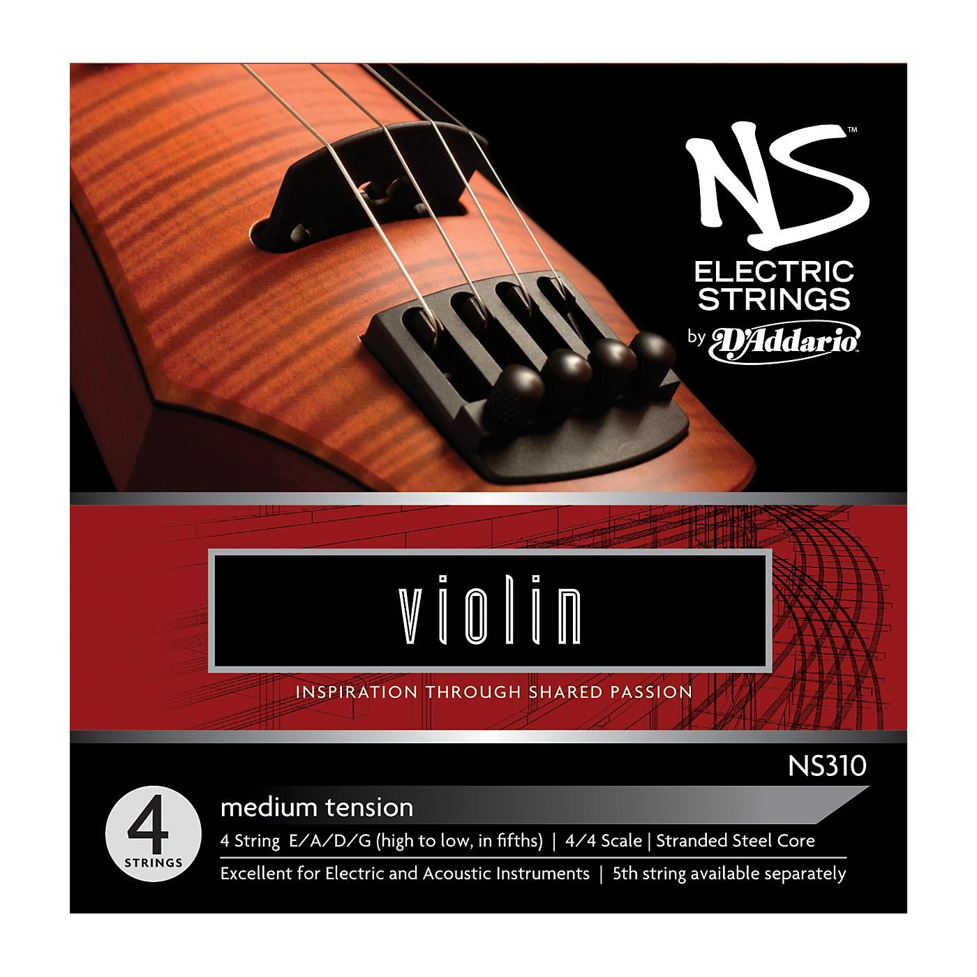 D'Addario NS310 NS Electric Violin Strings thumbnail