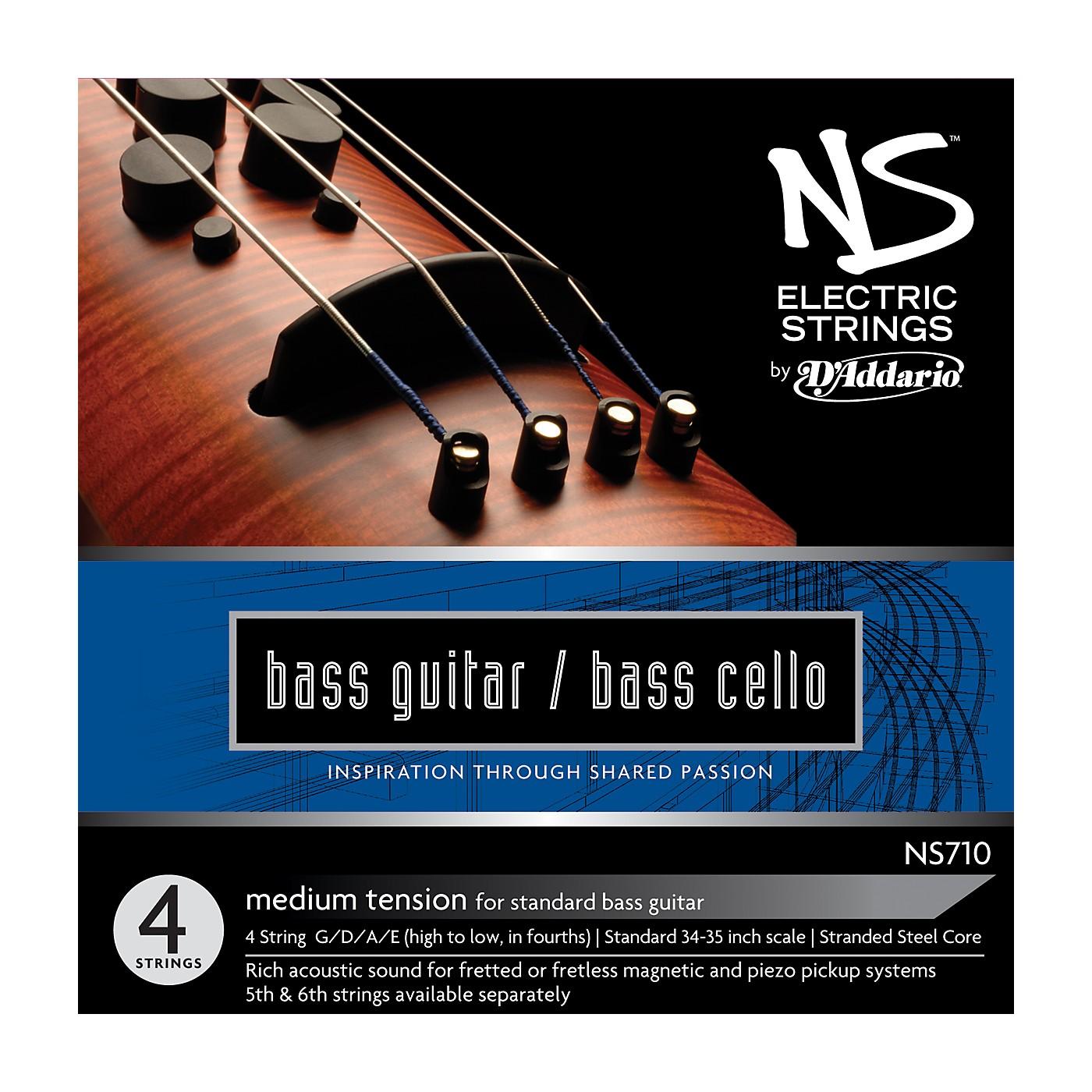D'Addario NS710 NS Electric Bass/Cello Strings thumbnail