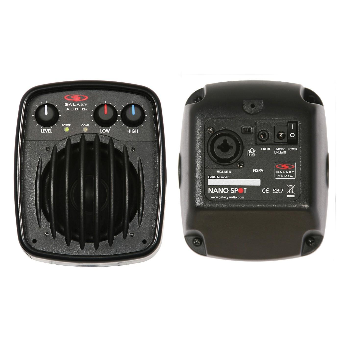 Galaxy Audio NSPA 25W Powered Nano Spot Compact Personal Hot Spot Stage Monitor thumbnail