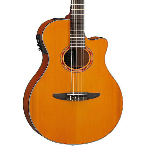 Yamaha NTX700C Classical Thin-line Acoustic-Electric Guitar with Cedar Top thumbnail