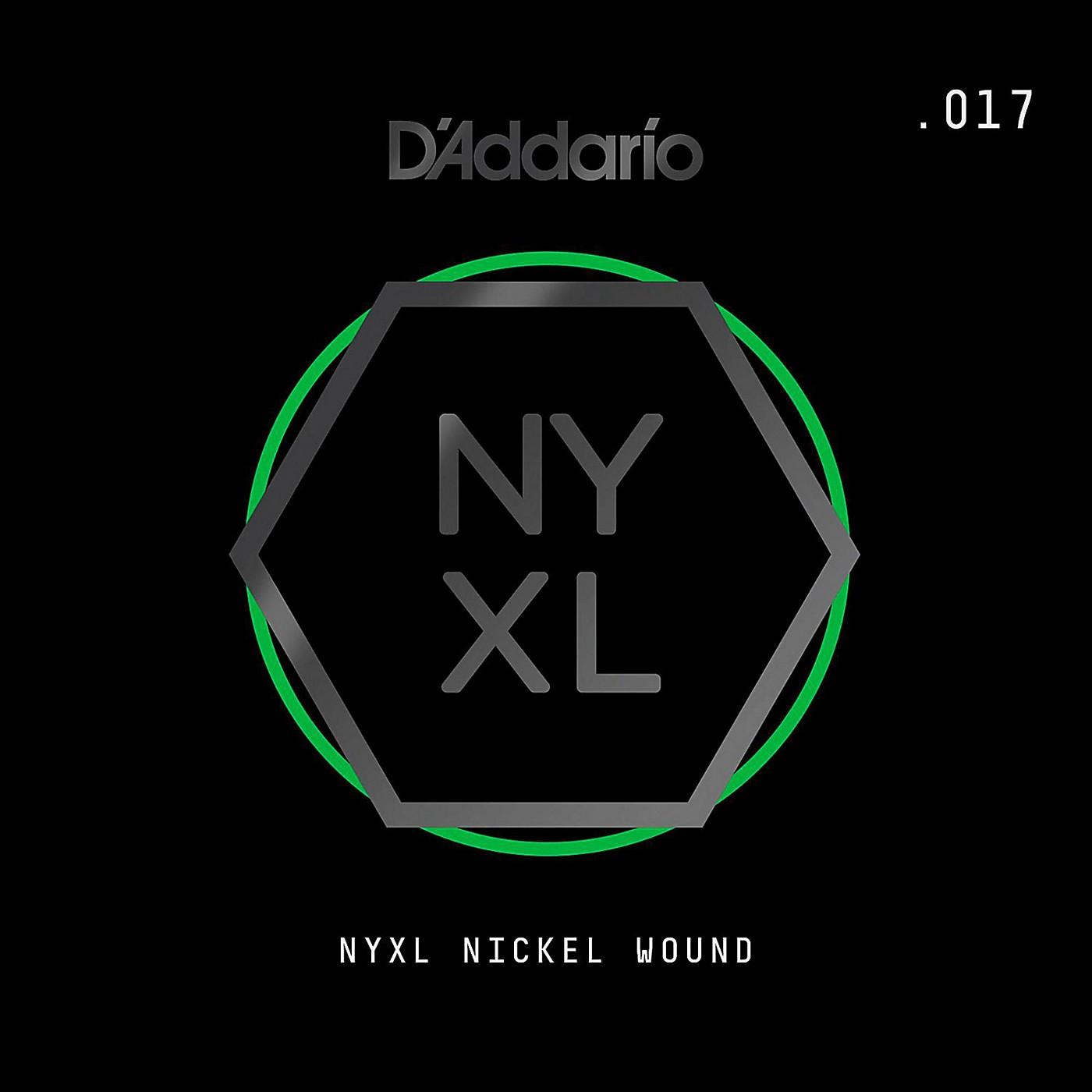 D'Addario NYNW017 NYXL Nickel Wound Electric Guitar Single String, .017 thumbnail