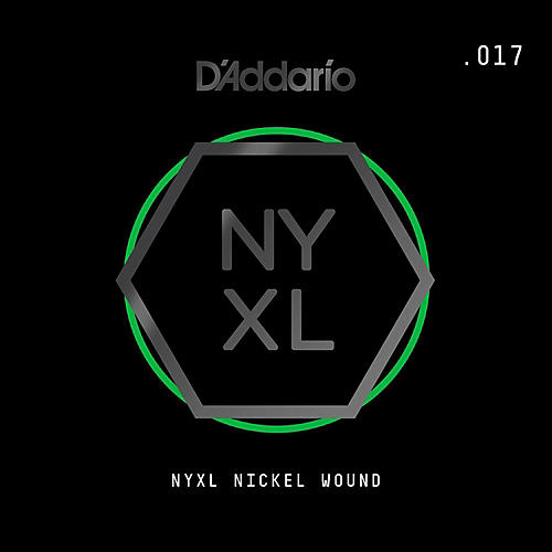 D'Addario NYNW017 NYXL Nickel Wound Electric Guitar Single String, .017 thumbnail