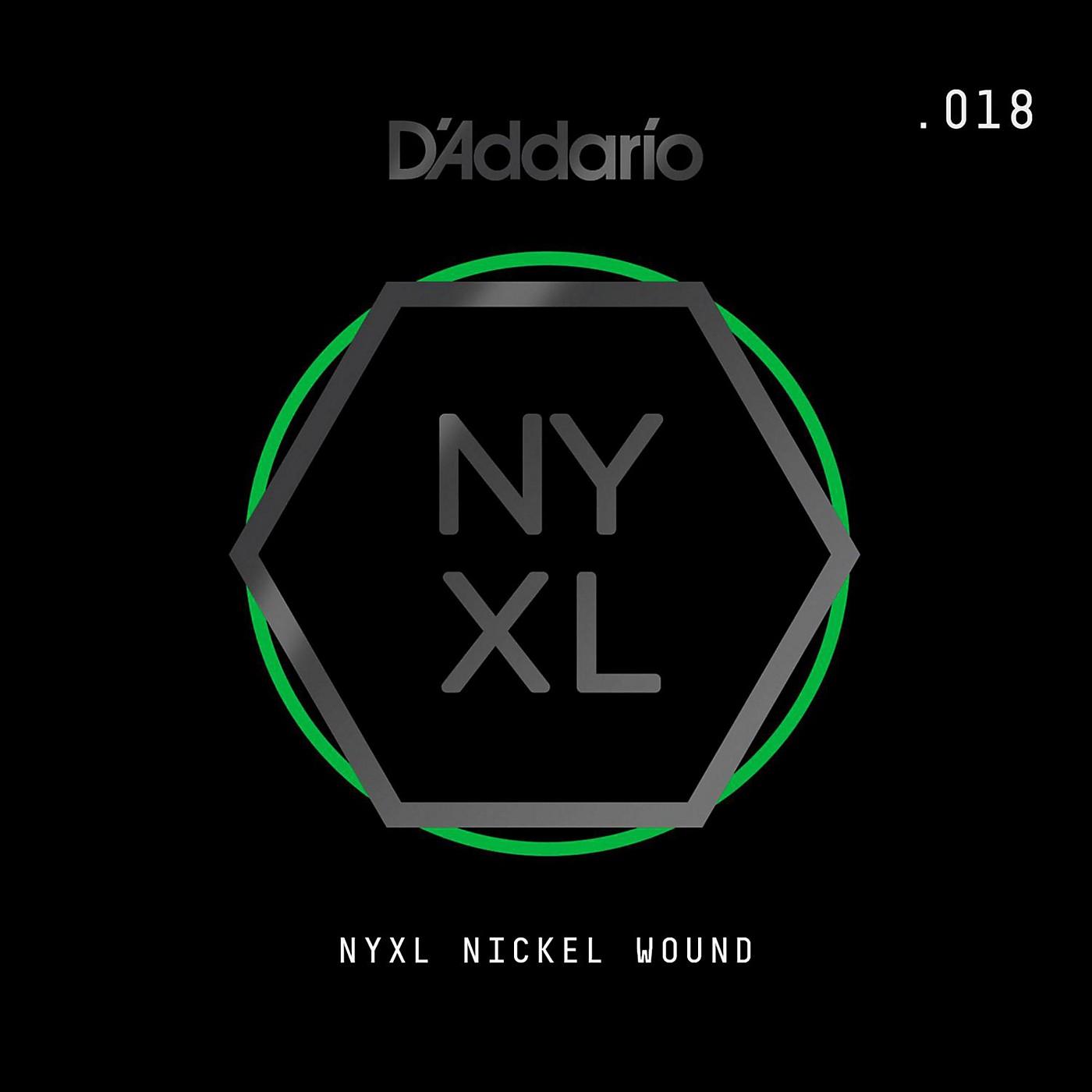 D'Addario NYNW018 NYXL Nickel Wound Electric Guitar Single String, .018 thumbnail