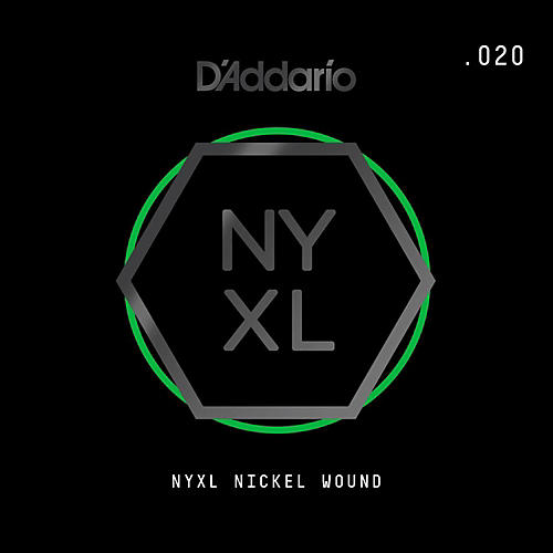 D'Addario NYNW020 NYXL Nickel Wound Electric Guitar Single String, .020 thumbnail
