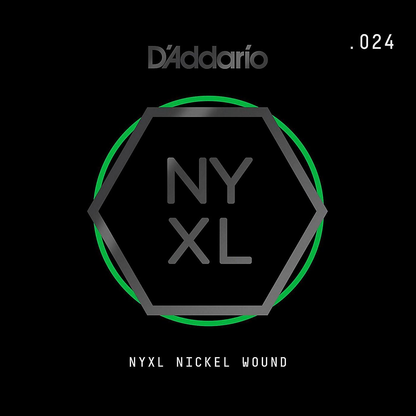 D'Addario NYNW024 NYXL Nickel Wound Electric Guitar Single String, .024 thumbnail