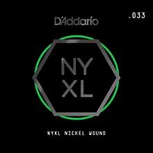 D'Addario NYNW033 NYXL Nickel Wound Electric Guitar Single String, .033