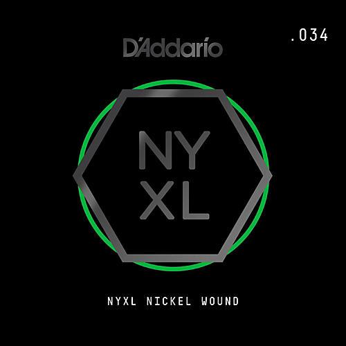 D'Addario NYNW034 NYXL Nickel Wound Electric Guitar Single String, .034 thumbnail