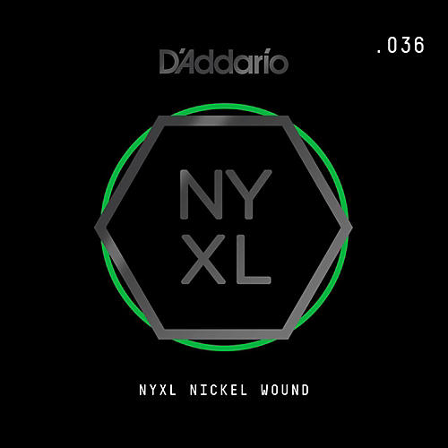 D'Addario NYNW036 NYXL Nickel Wound Electric Guitar Single String, .036 thumbnail