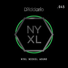 D'Addario NYNW045 NYXL Nickel Wound Electric Guitar Single String, .045