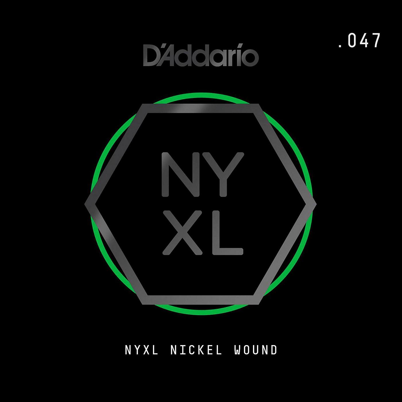 D'Addario NYNW047 NYXL Nickel Wound Electric Guitar Single String, .047 thumbnail