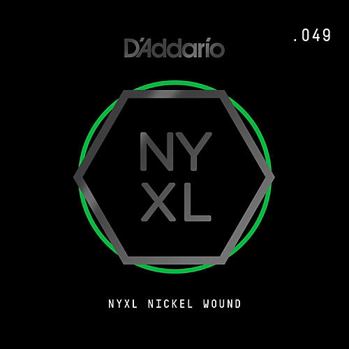 D'Addario NYNW049 NYXL Nickel Wound Electric Guitar Single String, .049 thumbnail