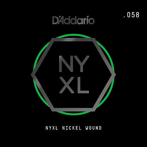 D'Addario NYNW058 NYXL Nickel Wound Electric Guitar Single String, .058 thumbnail