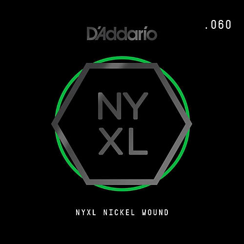 D'Addario NYNW060 NYXL Nickel Wound Electric Guitar Single String, .060 thumbnail