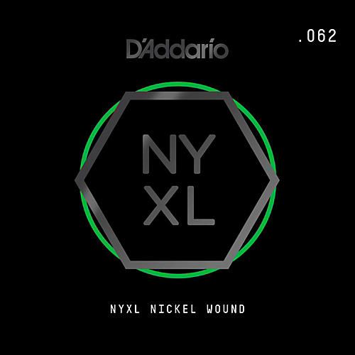D'Addario NYNW062 NYXL Nickel Wound Electric Guitar Single String, .062 thumbnail