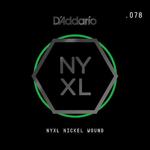 D'Addario NYNW078 NYXL Nickel Wound Electric Guitar Single String, .078 thumbnail