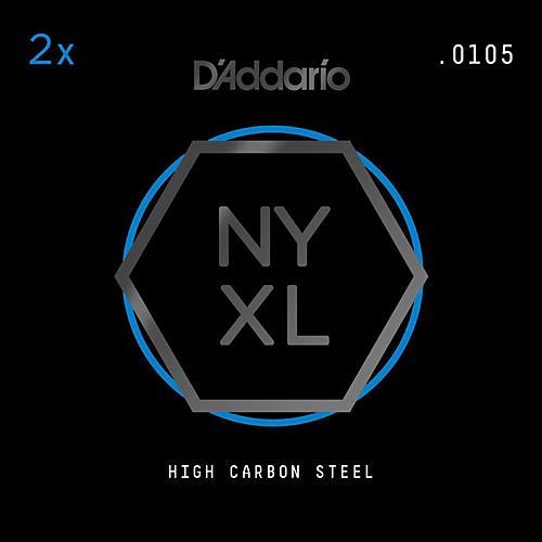 D'Addario NYPL0105 Plain Steel Guitar Strings 2-Pack, .0105 thumbnail