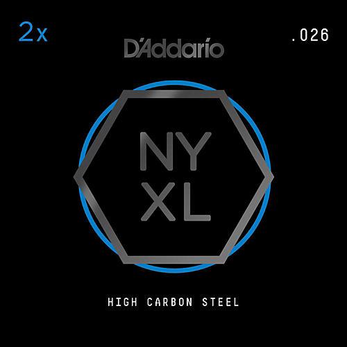 D'Addario NYPL026 Plain Steel Guitar Strings 2-Pack, .026 thumbnail