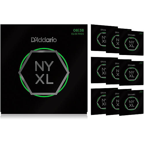 D'Addario NYXL0838 Extra Super Light 10-Pack Electric Guitar Strings thumbnail