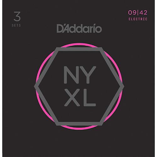 D'Addario NYXL0942 Super-Light 3-Pack Electric Guitar Strings thumbnail