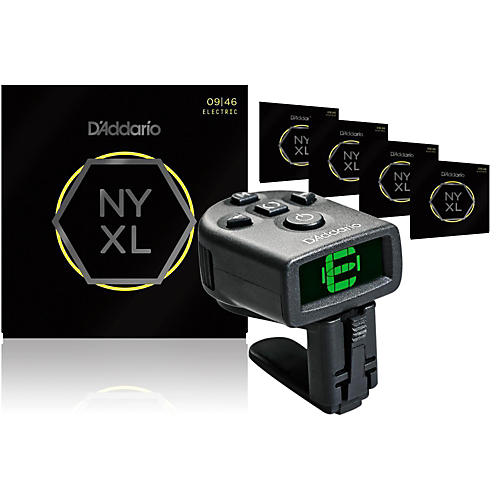 D'Addario NYXL0946 Electric Guitar Strings 5-Pack with FREE NS Micro Headstock Tuner thumbnail