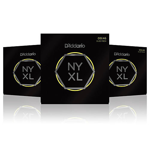 D'Addario NYXL0946 Super Light Top/Regular Bottom 3-Pack Electric Guitar Strings thumbnail