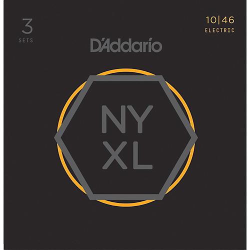 D'Addario NYXL1046 Light 3-Pack Electric Guitar Strings thumbnail