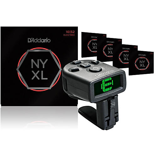 D'Addario NYXL1052 Electric Guitar Strings 5-Pack with FREE NS Micro Headstock Tuner thumbnail