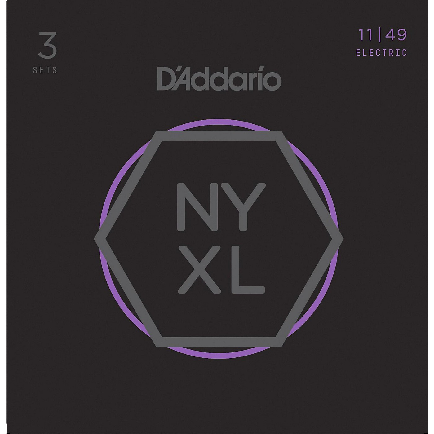 D'Addario NYXL1149 Medium 3-Pack Electric Guitar Strings thumbnail