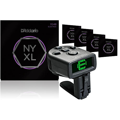 D'Addario NYXL1149 Medium Electric Guitar Strings 5-Pack with FREE NS Micro Headstock Tuner thumbnail