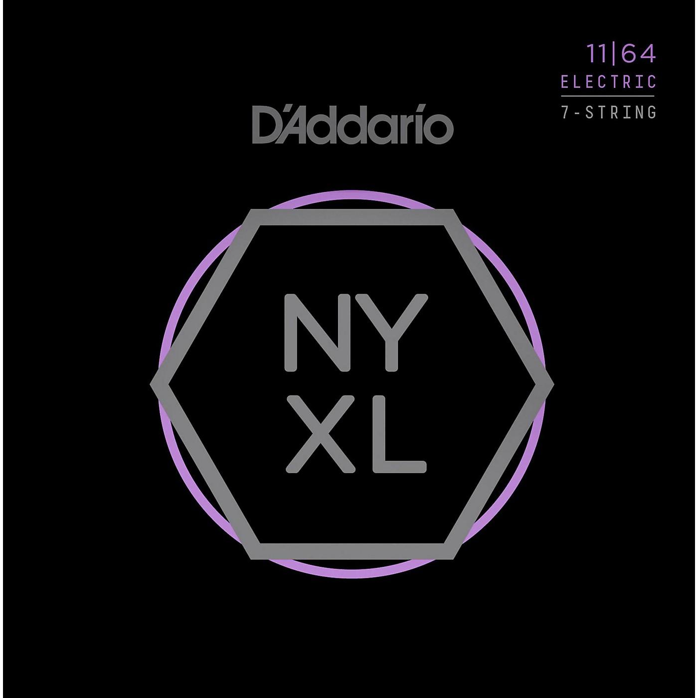 D'Addario NYXL1164 7-String Medium Nickel Wound Electric Guitar Strings (11-64) thumbnail