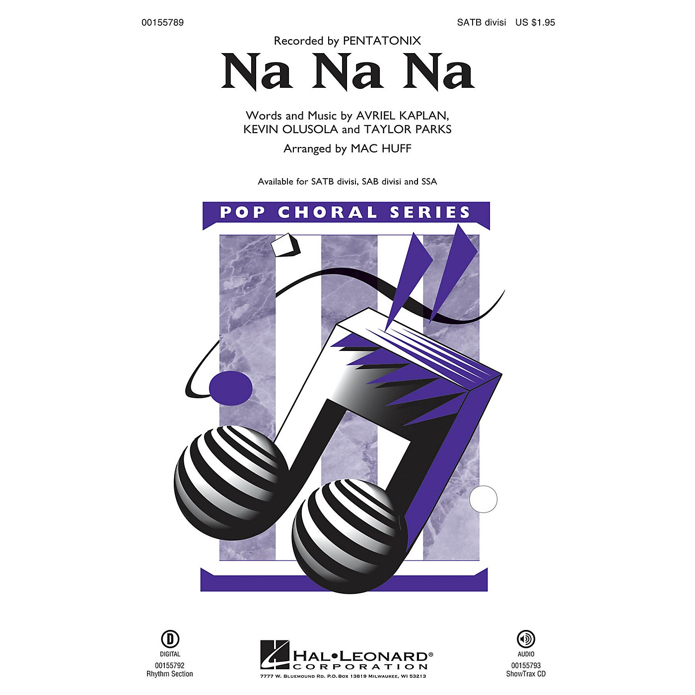 Hal Leonard Na Na Na SSA by Pentatonix Arranged by Mac Huff thumbnail