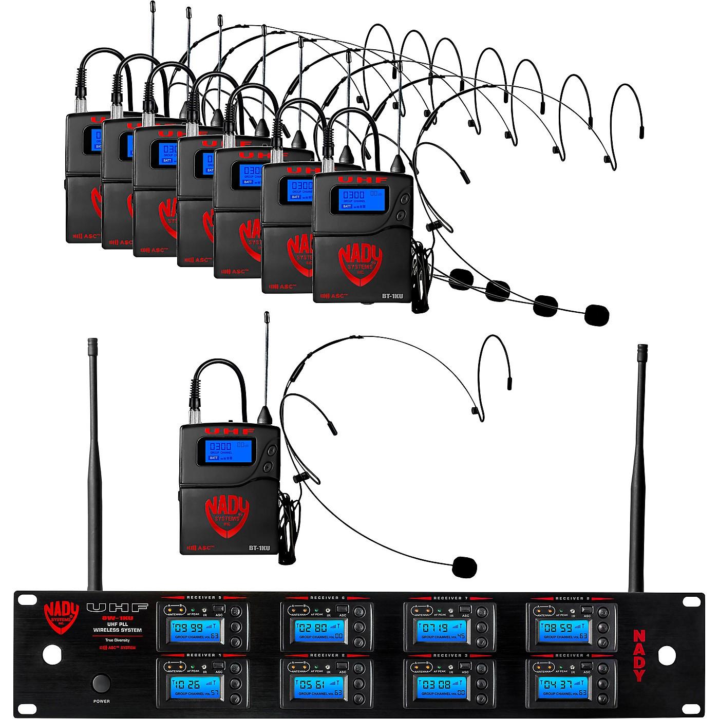 Nady Nady 8W-1KU Eight 1000-Channel Headset Wireless System, Black thumbnail
