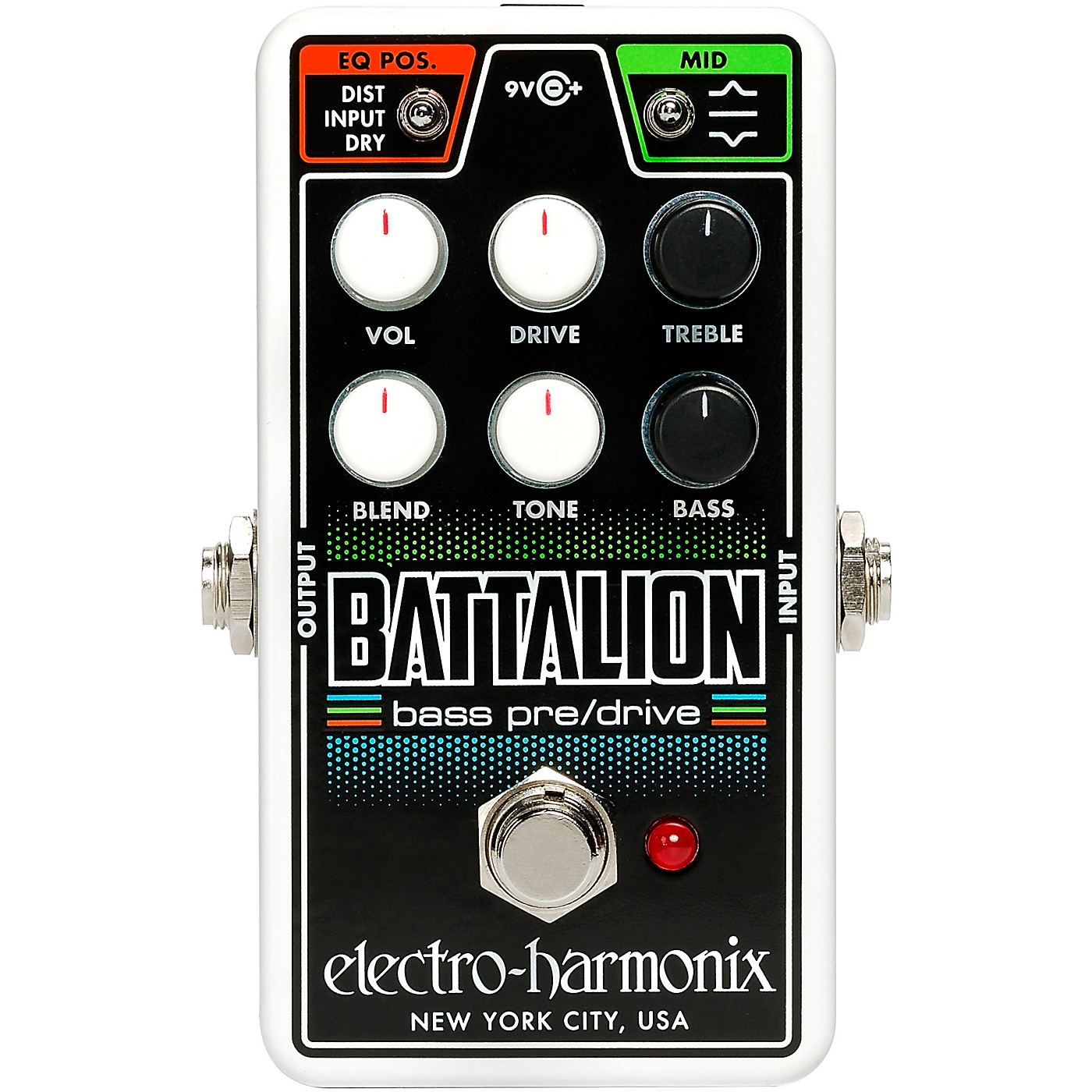 Electro-Harmonix Nano Battalion Bass Preamp & Overdrive Effects Pedal thumbnail