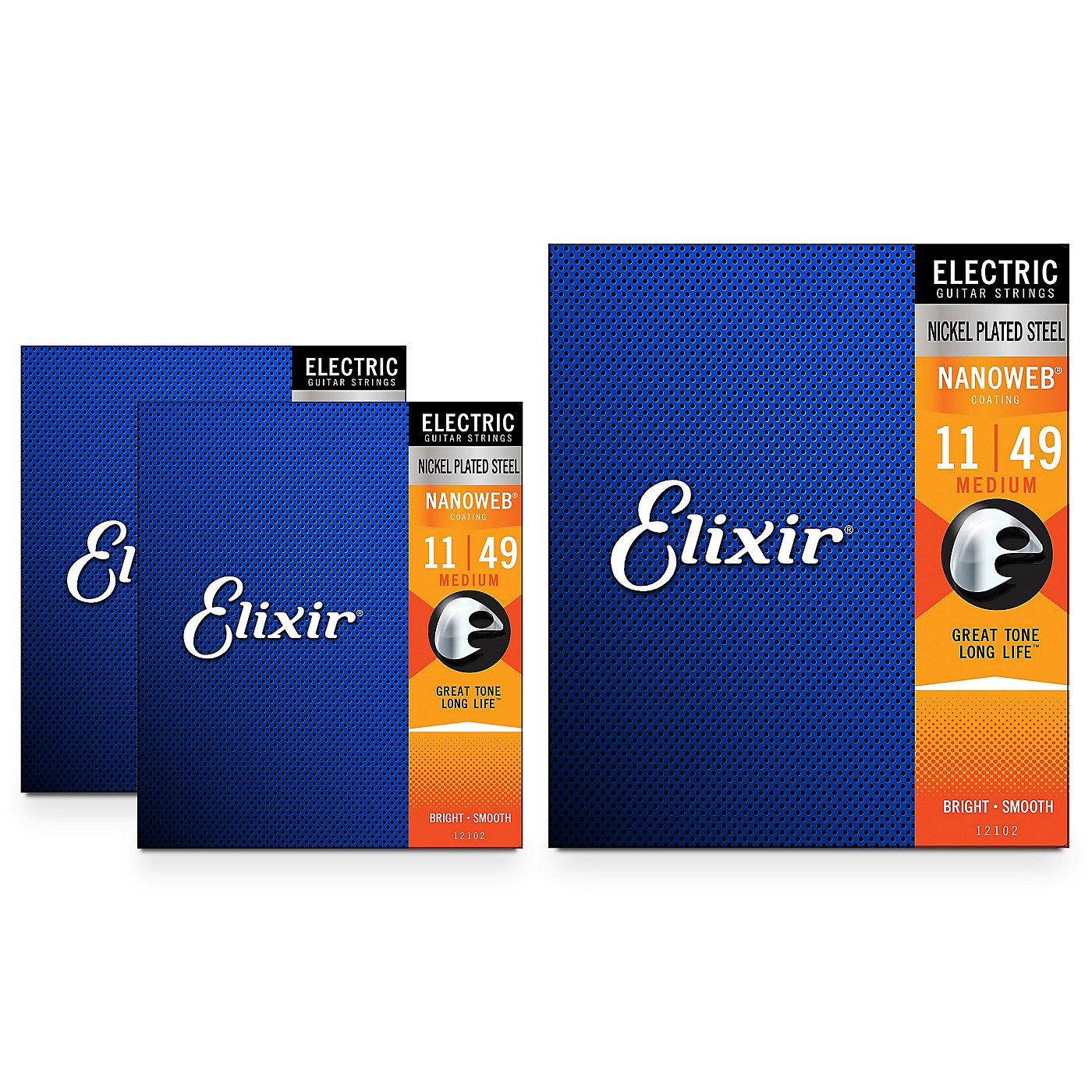 Elixir Nanoweb Electric Strings, Medium (11-49) 3-Pack thumbnail