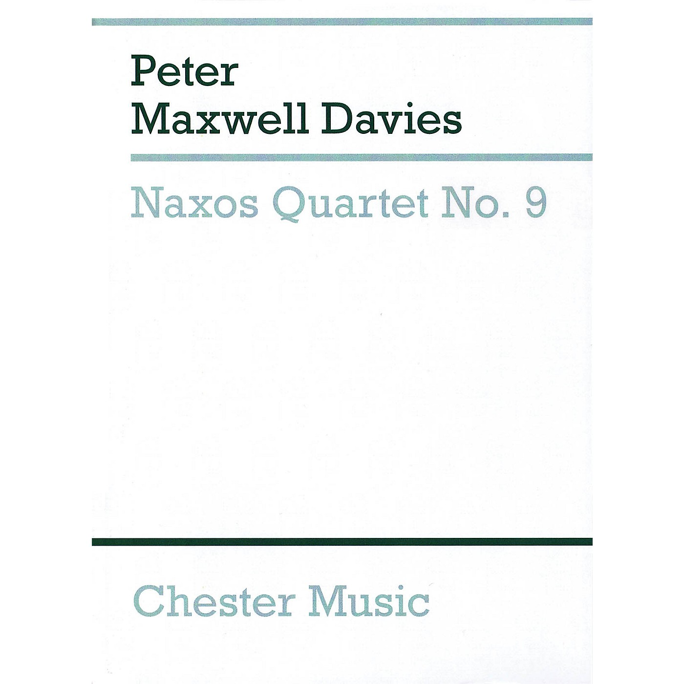Chester Music Naxos Quartet No. 9 Music Sales America Series Softcover Composed by Peter Maxwell Davies thumbnail