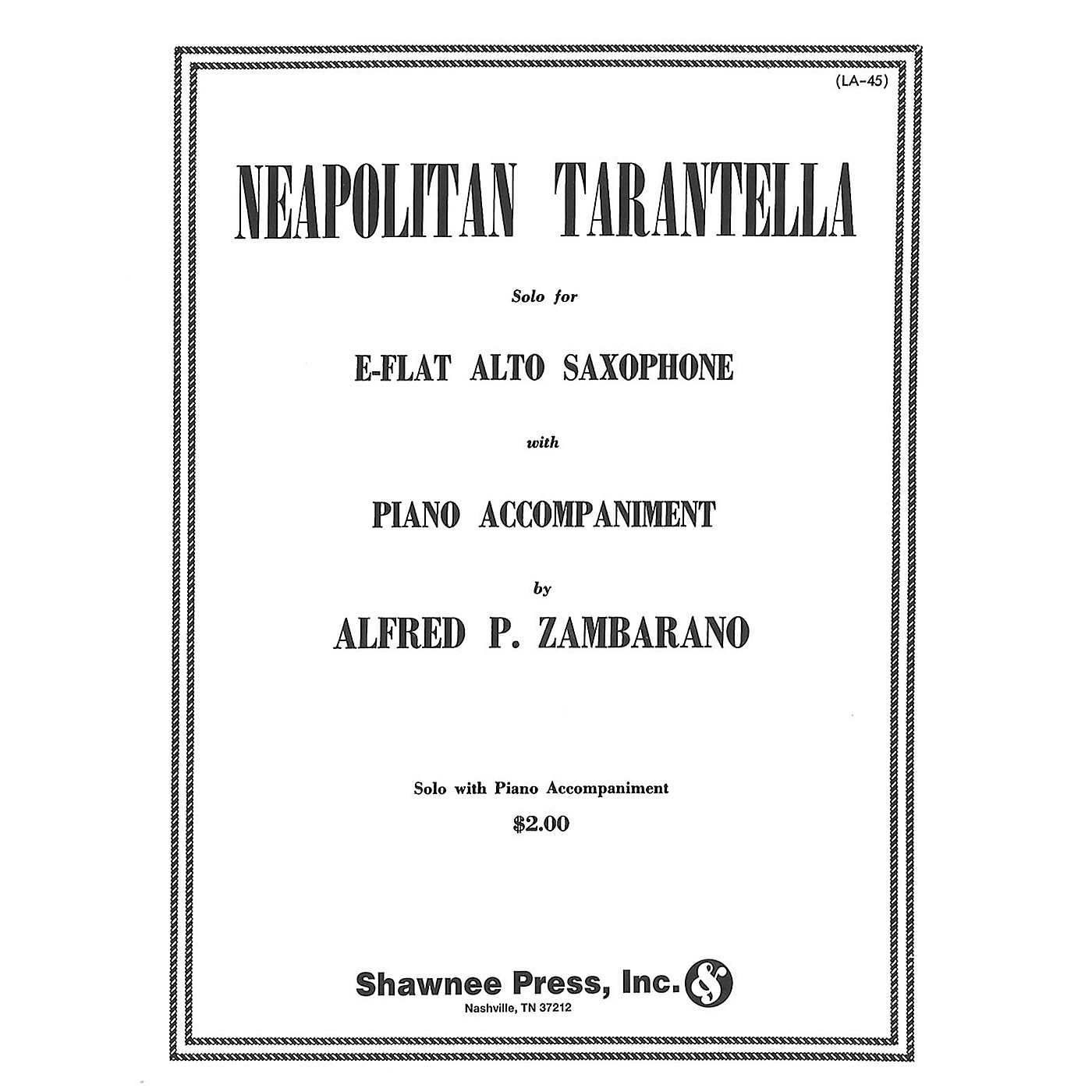 Hal Leonard Neapolitan Tarantella Alto Saxophone/Piano Alto Sax thumbnail