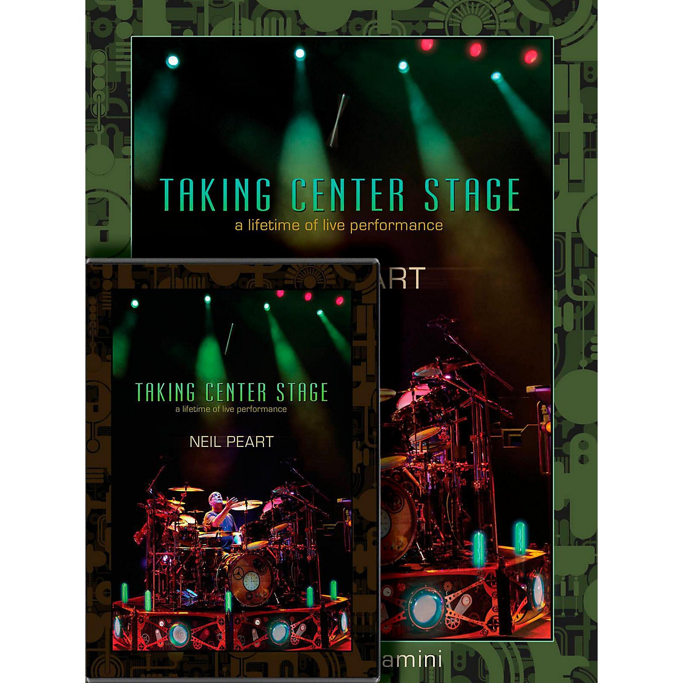 Hudson Music Neil Peart Taking Center Stage Combo Pack Book/DVD thumbnail