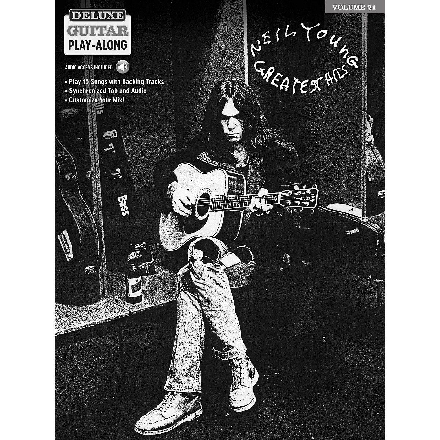 Hal Leonard Neil Young Deluxe Guitar Play-Along Volume 21 Book/Audio Online thumbnail