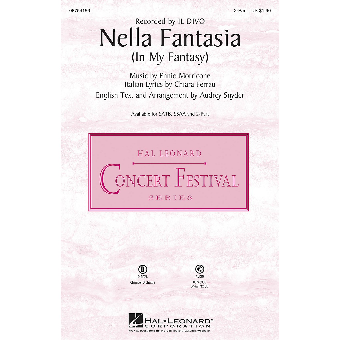 Hal Leonard Nella Fantasia (In My Fantasy) 2-Part by Il Divo arranged by Audrey Snyder thumbnail