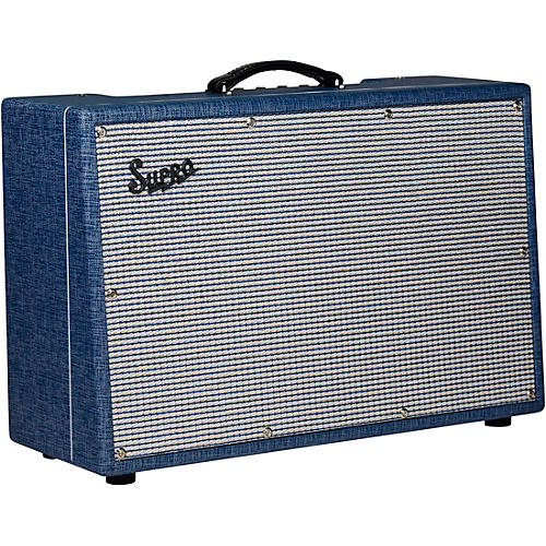 Supro Neptune Reverb 25W 2x12 Tube Guitar Combo Amplifier thumbnail