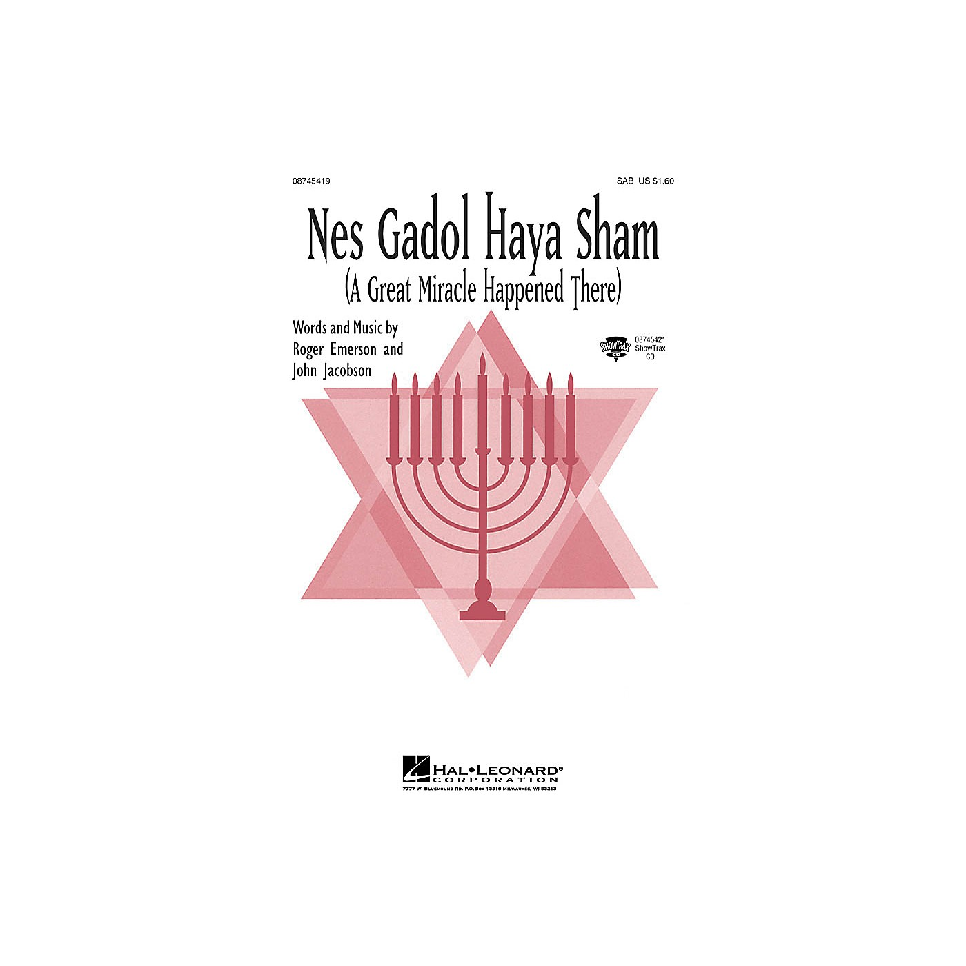 Hal Leonard Nes Gadol Haya Sham (A Great Miracle Happened There) 2-Part Composed by John Jacobson, Roger Emerson thumbnail