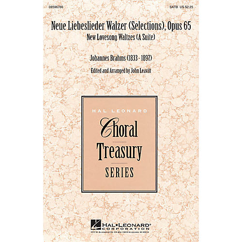 Hal Leonard Neue Liebeslieder Walzer (Selections), Opus 65 (New Lovesong Walzes (A Suite)) SATB arranged by John Leavitt thumbnail