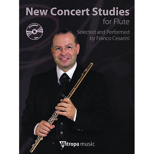 Mitropa Music New Concert Studies for Flute Mitropa Play-Along Book Series Arranged by Franco Cesarini thumbnail