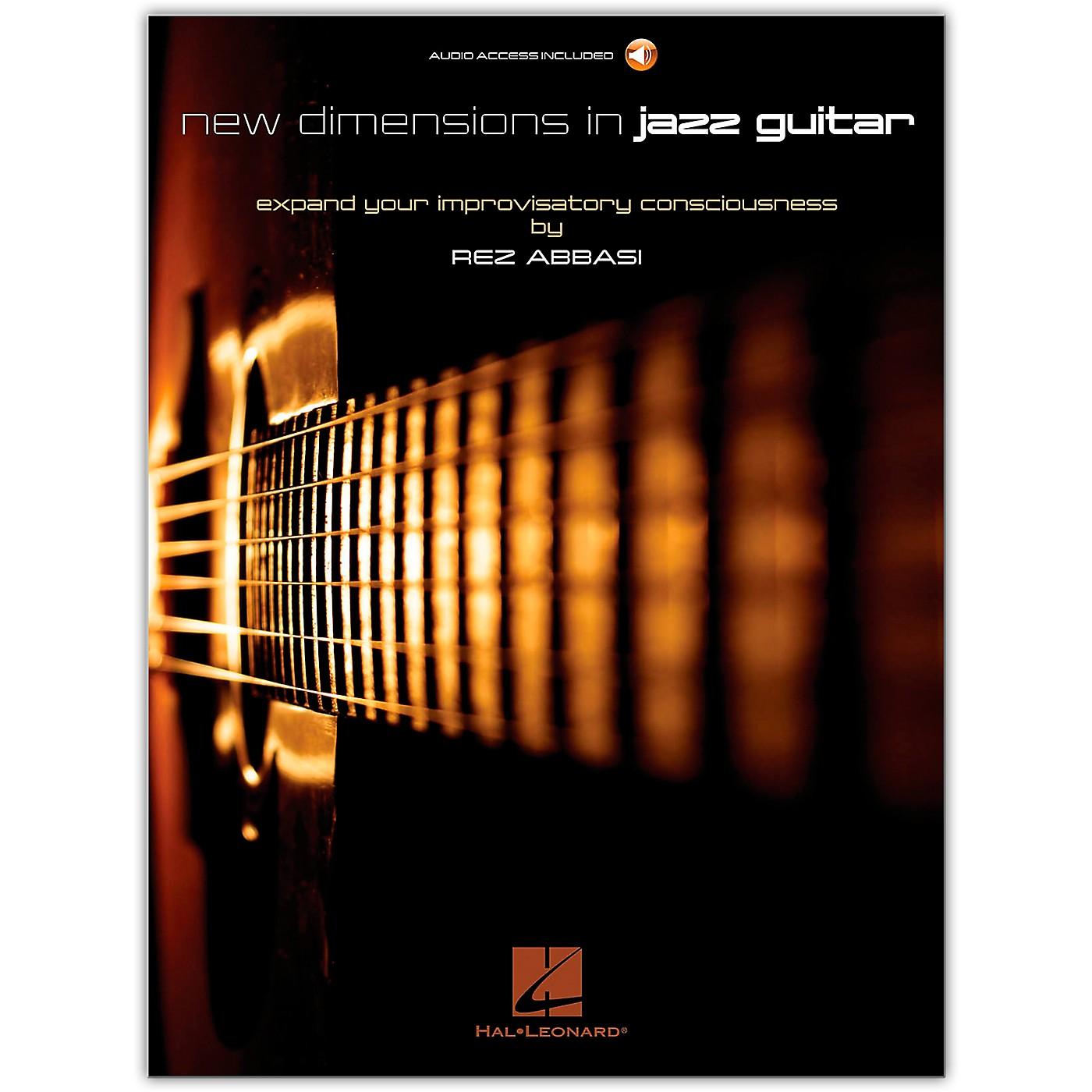 Hal Leonard New Dimensions in Jazz Guitar Guitar Book/Audio Online Written by Rez Abbasi thumbnail