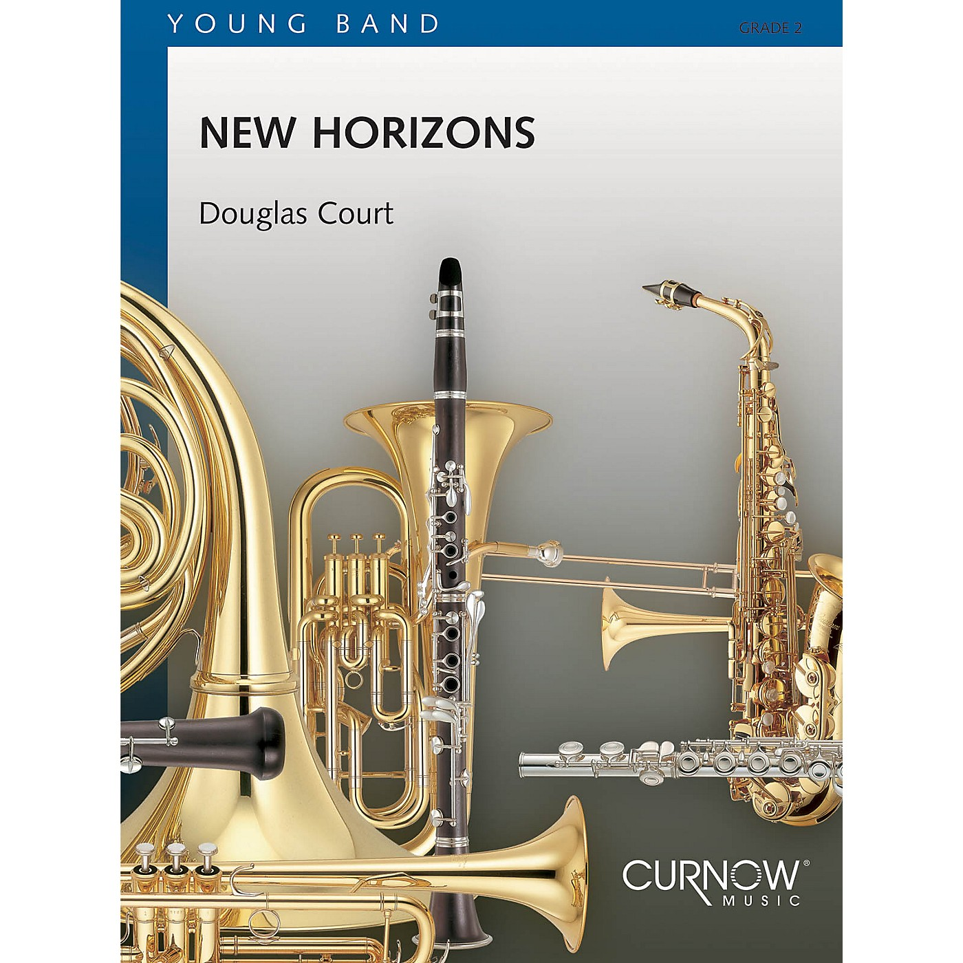 Curnow Music New Horizons (Grade 2 - Score Only) Concert Band Level 2 Composed by Douglas Court thumbnail