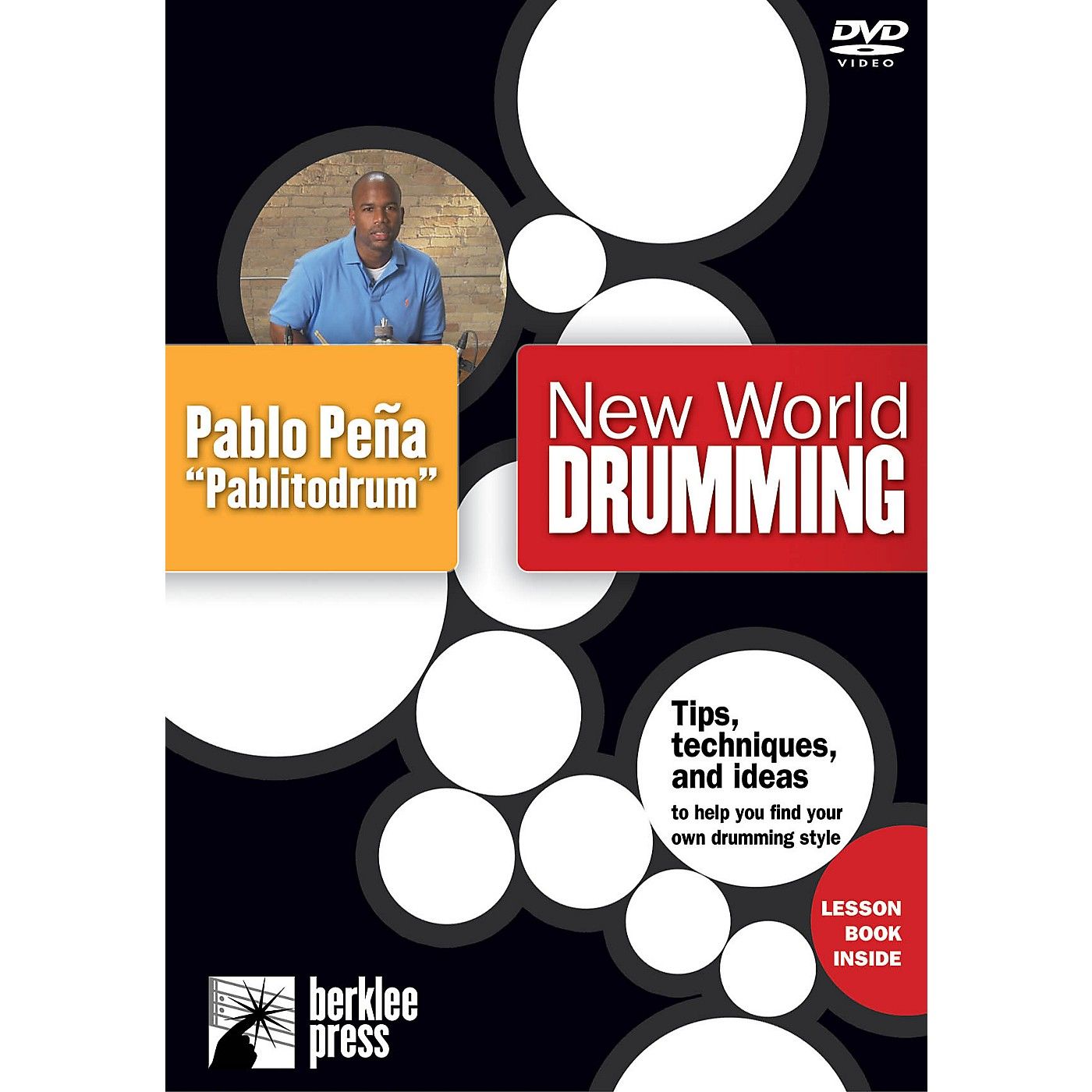 Berklee Press New World Drumming Instructional/Drum/DVD Series DVD Performed by Pablo Peña