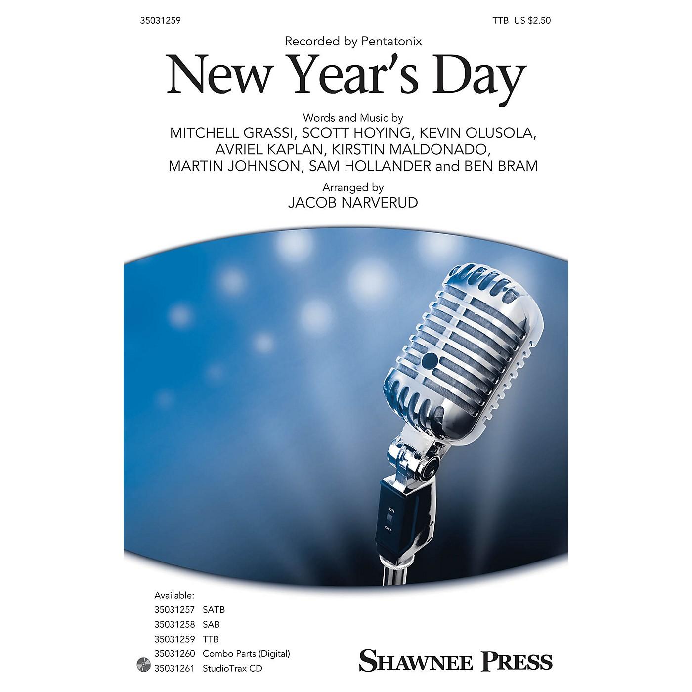 Shawnee Press New Year's Day TTB by Pentatonix arranged by Jacob Narverud thumbnail